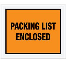 4 1/2 X 6″ Full Face Packing List Envelope (1000/Case)