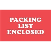 "#DL1110  2 X 3″  ""PACKING  LIST ENCLOSED"" Label"