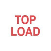 #DL1210  3 X 5″  Top Load  Label (Red/White)