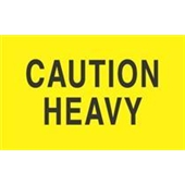 #DL2101  3 X 5″  Caution Heavy Label