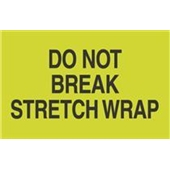 #DL2201  3 X 5″  Do Not  Break Stretch Wrap Label