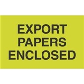 #DL2401  3 X 5″  Export  Papers Enclosed Label