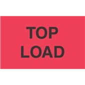 #DL2661  3 X 5″  Top Load  Label (Flourescent Red/Black)