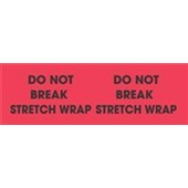 #DL3111  3 X 10″  Do Not Break Stretch Wrap (Flourescent Red/Black) Label