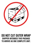 #DL3183  4 X 6″  Do Not Cut Outer Wrap (White/Red/Black) Label