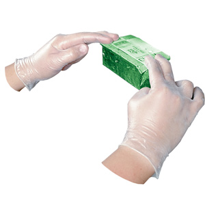 FINAL SALE: Clear Disposable Vinyl Powder-Free General Purpose Gloves – Large (100/bx)